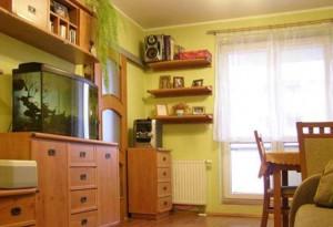 na zdjęciu mieszkanie na sprzedaż w Warszawie, widok na salon