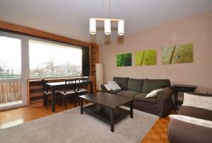 zdjęcie przedstawia nowocześnie umeblowany salon w mieszkaniu