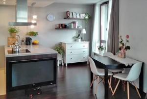 na zdjęciu wnętrze mieszkania widok na aneks kuchenny