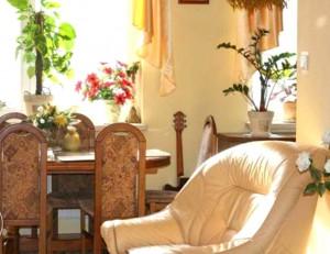 zdjęcie przedstawia umeblowany salon w mieszkaniu na Białołęce, w Warszawie