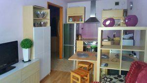 na zdjęciu salon w mieszkaniu do sprzedaży w Warszawie na Bielanach