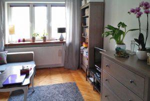 na zdjęciu salon w mieszkaniu do sprzedaży w  Warszawie - Śródmieście