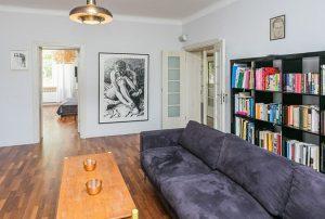 widok na wnętrze ekskluzywnego mieszkania do wynajęcia w Warszawie