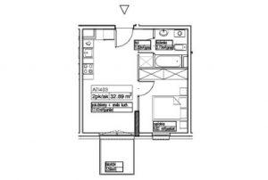 widok na rozkład pomieszczeń i pokoi w mieszkaniu do sprzedaży Warszawa Pruszków