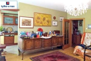 stylowy pokój gościnny w mieszkaniu na sprzedaż Warszawa Mokotów